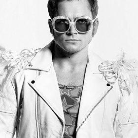 Rocketman Taron Egerton White Jacket