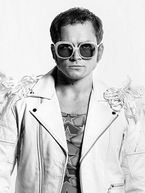 Rocketman Taron Egerton White Jacket