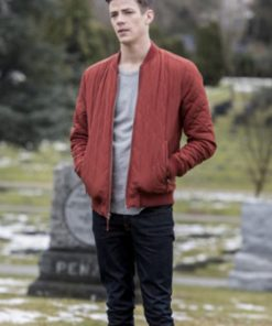 Barry Allen The Flash Season 5 Quilted Jacket