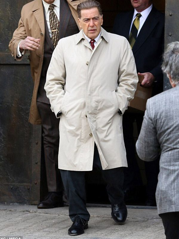 Al Pacino The Irishman White Trench Coat