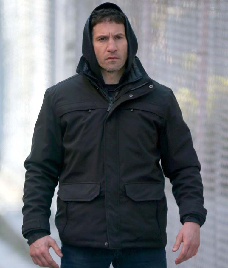 Jon Bernthal The Punisher Black Cotton Jacket