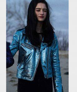 Raffey Cassidy Motorcycle Leather Vox Lux Albertine Jacket