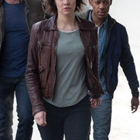 Lauren Cohan Whiskey Cavalier Leather Jacket
