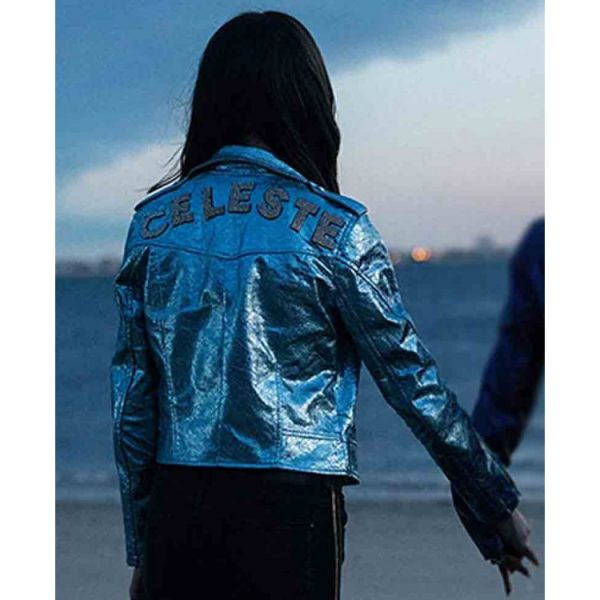 Vox Lux Young Celeste Blue Leather Jacket