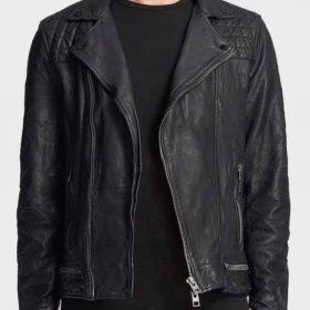 Christian Navarro Black Leather TV Series 13 Reasons Why Tony Padilla Jacket
