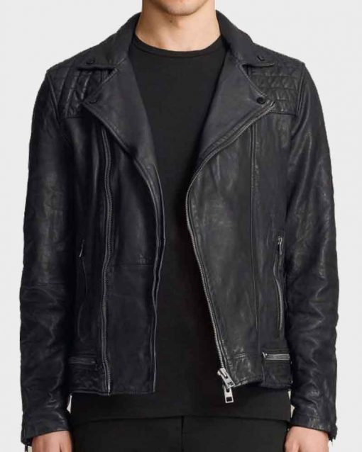Christian Navarro Black Leather TV Series 13 Reasons Why Tony Padilla Jacket
