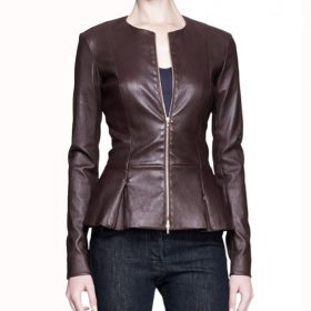 Annalise Keating How To Get Away With Murder Brown Leather Jacket