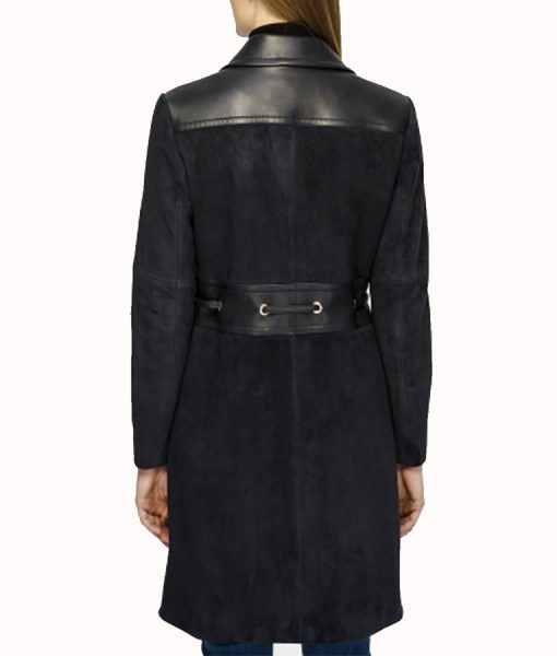 How to Get Away With Murder Annalise Keating Black Suede Coat