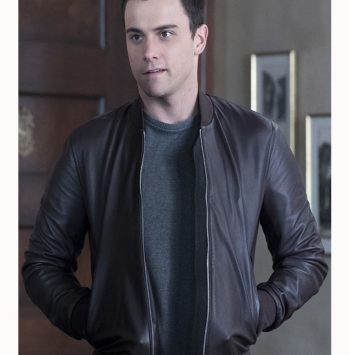 Connor Walsh How To Get Away With Murder Bomber Leather Jacket