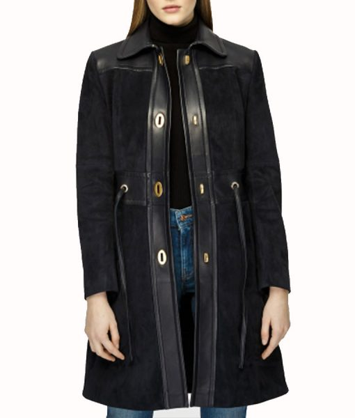 Annalise Keating How to Get Away With Murder Leather Coat