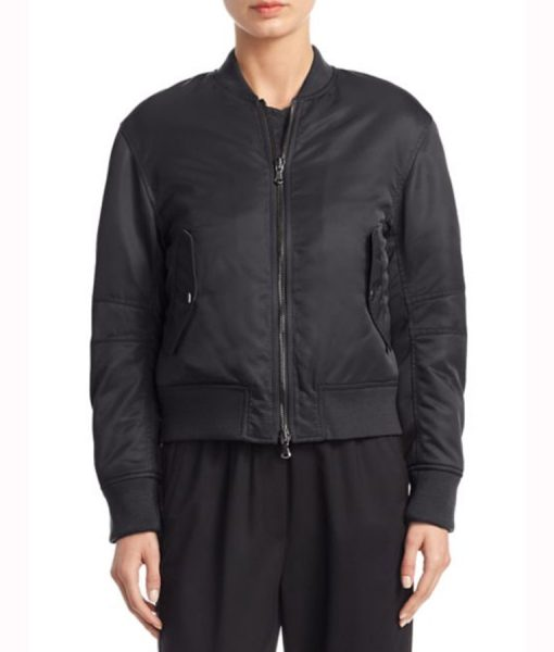 Laurel Castillo How to Get Away with Murder Black Bomber Jacket