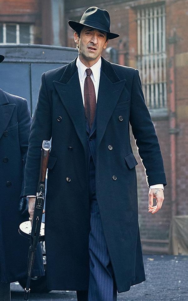 Peaky Blinders Luca Changretta Adrien Brody Blue Trench Coat