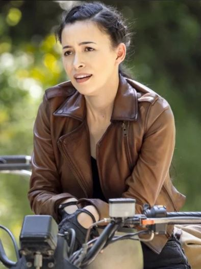 Rosita Espinosa The Walking Dead Brown Jacket