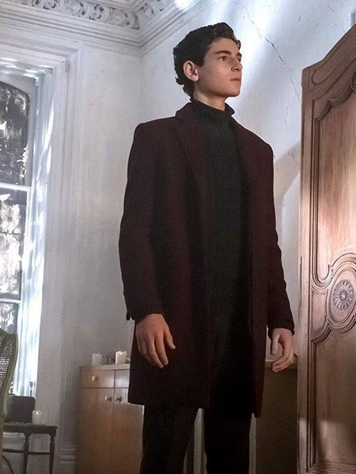 Bruce Wayne Gotham Maroon Coat