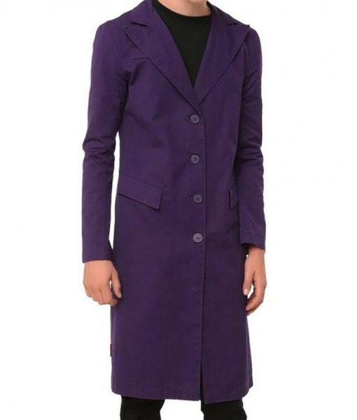Joker The Dark Knight Purple Coat