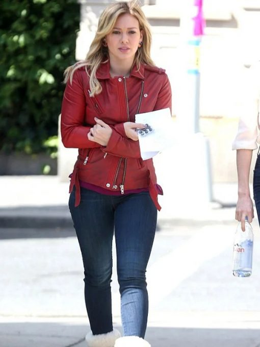 Kelsey Peters Younger Red Leather Jacket