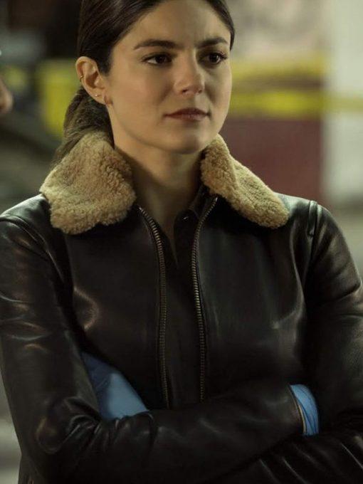 Cora Vasquez Black Leather Jacket