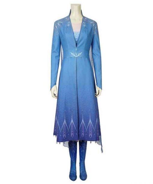 Frozen 2 Elsa Blue Coat