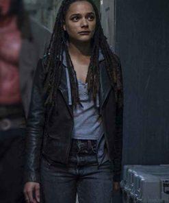 Hellboy Sasha Lane Leather Alice Monaghan Black Jacket
