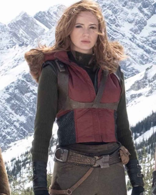 Jumanji The Next Level Karen Gillan Red Leather Martha Vest