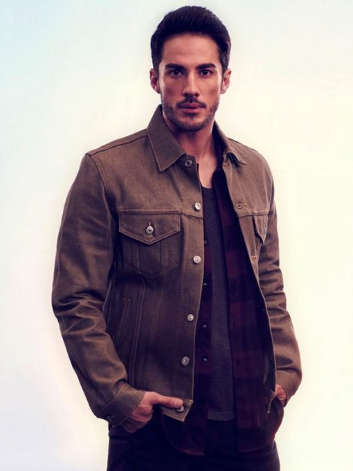 Michael Trevino Brown Cotton Jacket