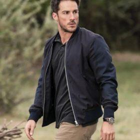 Michael Trevino Black Bomber Jacket