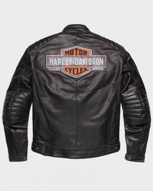 Mens Legend Harley Davidson Black Motorcycle Leather Jacket