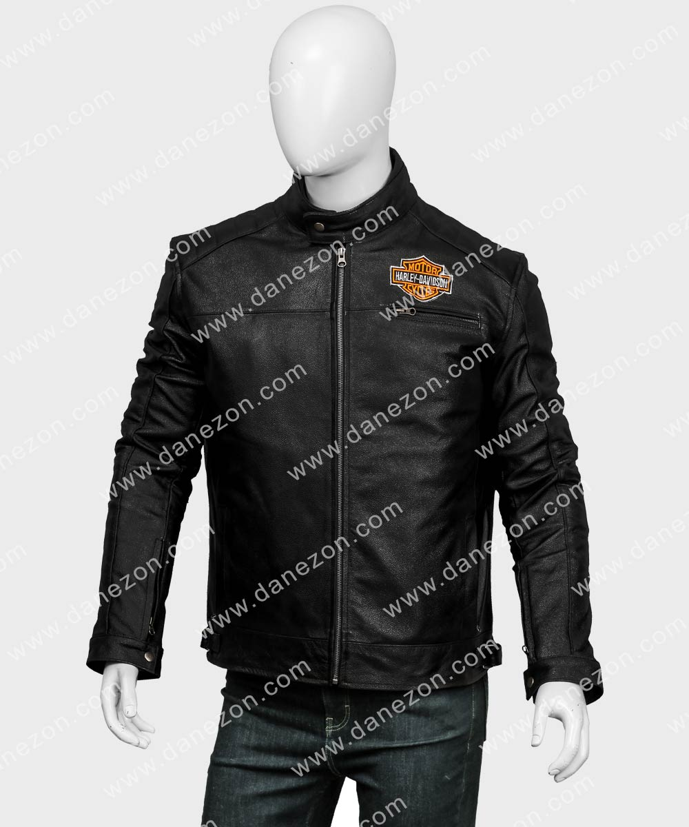 Men/'s Harley Davidson Black Vest Motorcycle Biker Racer Leather Jacket