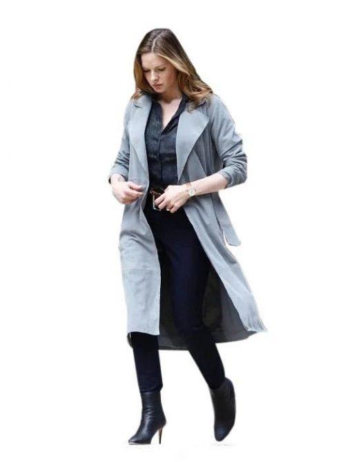 Rebecca Ferguson Grey Cotton Trench Coat