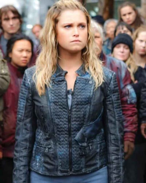 The 100 Eliza Taylor Black Leather Clarke Griffin Jacket