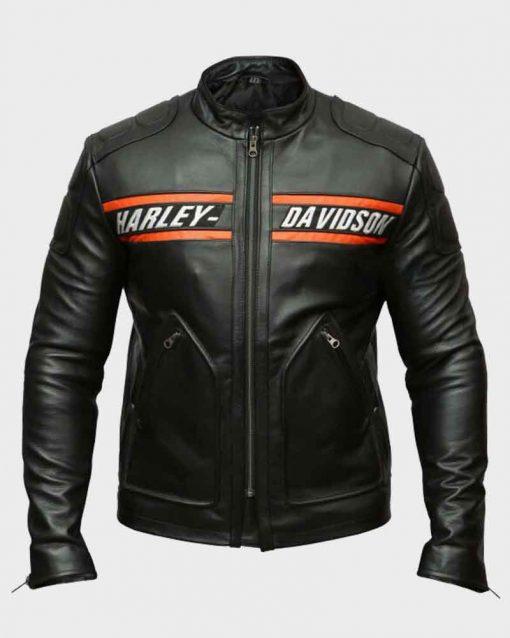 WWE Black Biker Leather Harley Davidson Bill Goldberg Jacket
