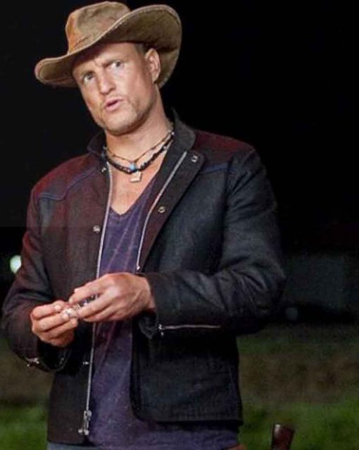 Woody Harrelson Leather Zombieland Double Tap Tallahassee Black Jacket