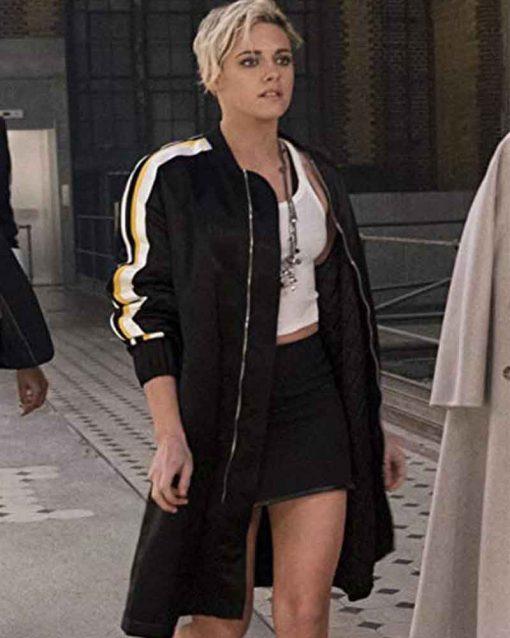 Charlie's Angels Kristen Stewart Black Sabina Wilson Bomber Jacket