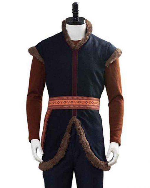 Jonathan Groff Blue Cotton Frozen II Kristoff Vest