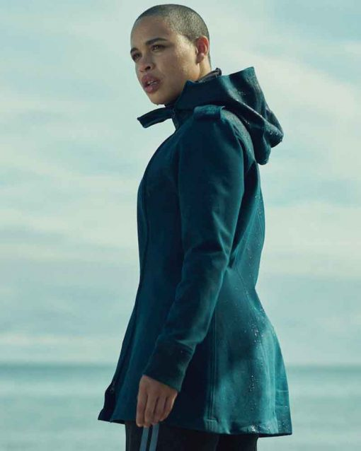 In the Shadow of the Moon Blue Cleopatra Coleman Rya Jacket with Hood