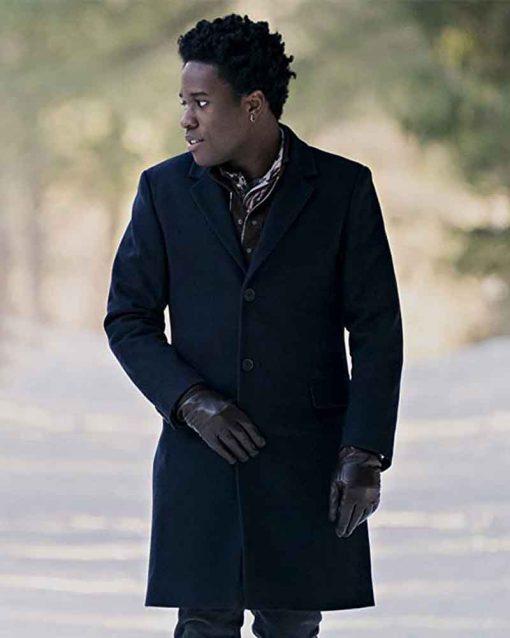 Let It Snow Shameik Moore Trench Stuart Black Coat