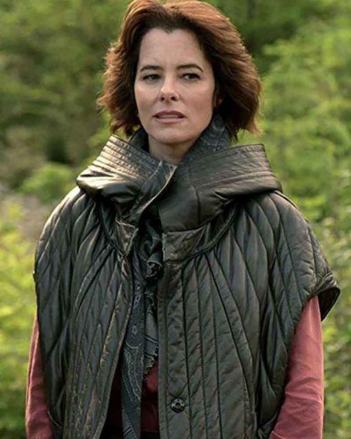 Lost In Space Parker Posey Black Dr. Smith Leather Jacket