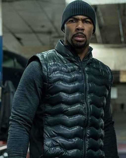 Power Omari Hardwick Black James St Patrick Vest