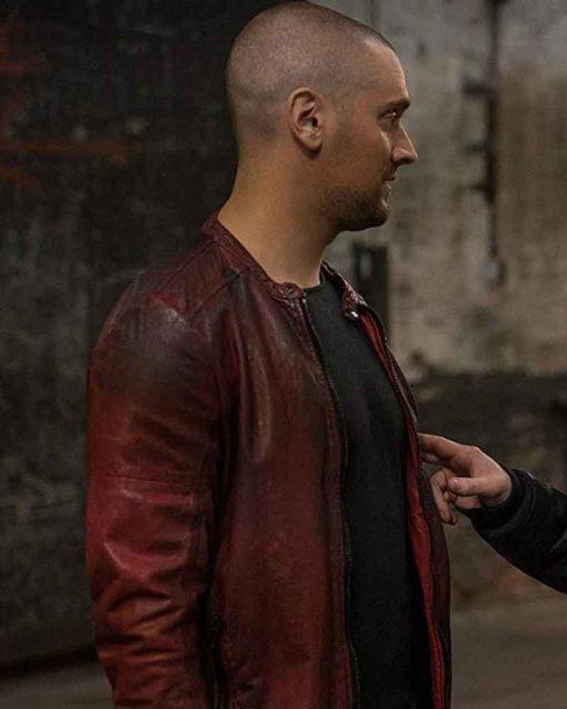 Aleksandar Popovic Distressed Leather TV Series Power Petar Jacket