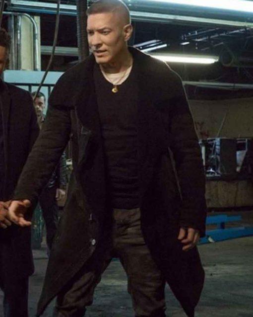 Joseph Sikora Shearling TV Series Power Tommy Egan Black Coat