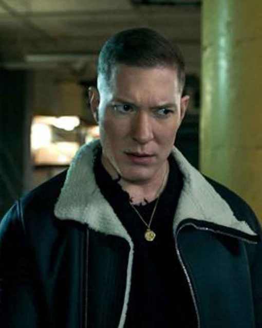 TV Series Power Tommy Egan Black Jacket with Fur Collar