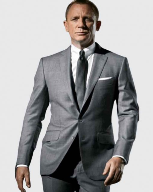 Daniel Craig Skyfall James Bond Grey Suit