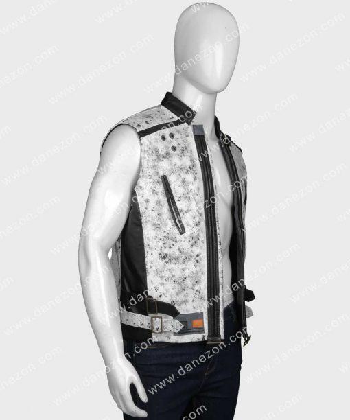 Alden Ehrenreich Leather Vest