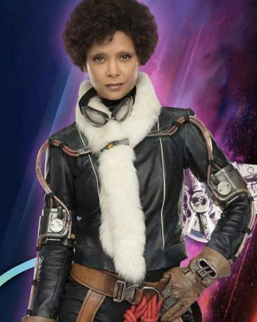 Solo: A Star Wars Story Thandie Newton Leather Val Black Jacket
