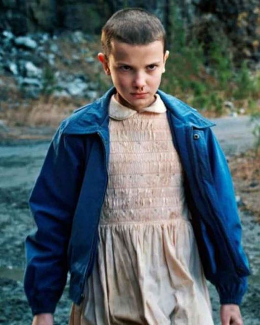 Millie Bobby Brown TV Series Stranger Things Blue Cotton Eleven Jacket