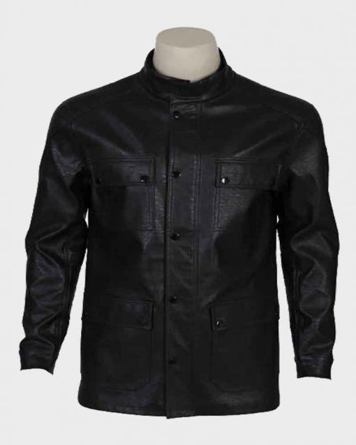 Carl Black Terminator Dark Fate T-800 Leather Jacket