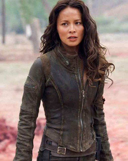 Terminator Salvation Moon Bloodgood Blair Williams Leather Jacket