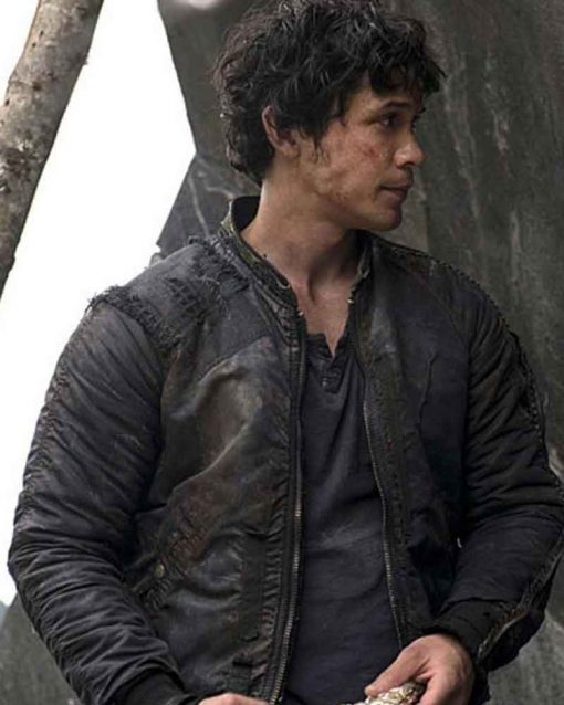 Bob Morley TV Series The 100 Black Leather Bellamy Blake Jacket
