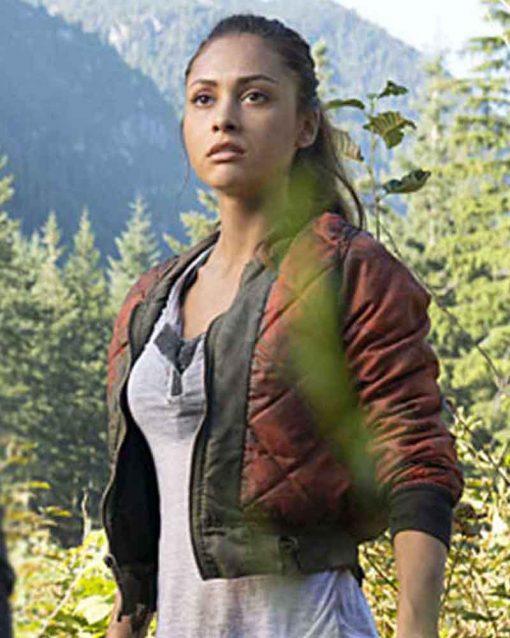 The 100 Lindsey Morgan Raven Reyes Red Jacket