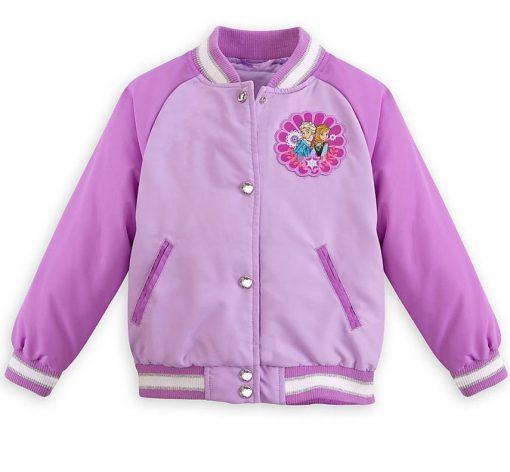 anna Purple Satin Jacket